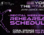 """""""Beyond The Stars"""" Rehearsal and Recital Info"""